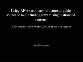 Using RNA secondary structure to guide sequence motif finding toward single-stranded regions