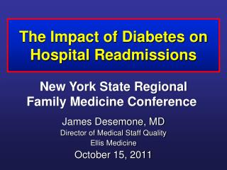 The Impact of Diabetes on Hospital Readmissions