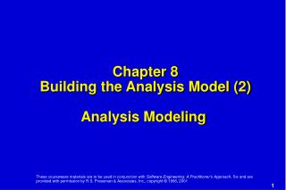 Chapter 8 Building the Analysis Model (2) Analysis Modeling