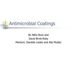 Antimicrobial Coatings