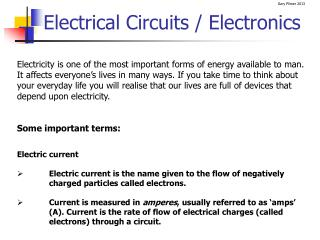 Electrical Circuits / Electronics