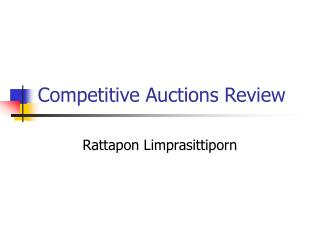 Competitive Auctions Review