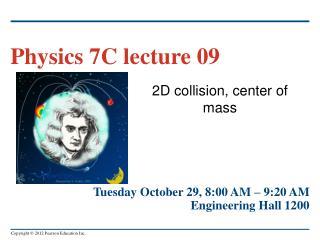 2D collision, center of mass