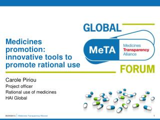 Medicines promotion: innovative tools to promote rational use