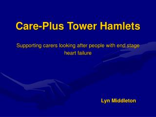 Care-Plus Tower Hamlets