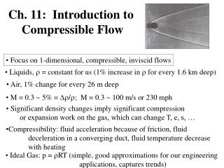 Ch. 11:  Introduction to  Compressible Flow