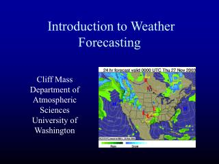 Introduction to Weather Forecasting