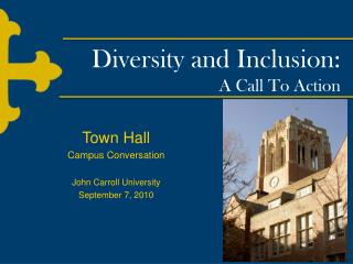 Diversity and Inclusion: A Call To Action