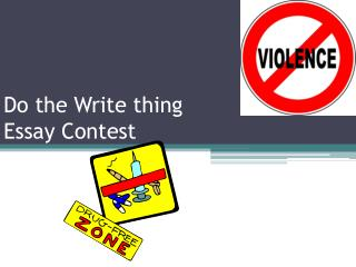 Do the Write thing  Essay Contest