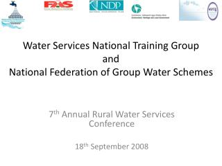 Water Services National Training Group  and  National Federation of Group Water Schemes