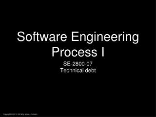 Software Engineering Process I