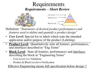 Requirements – Short Review