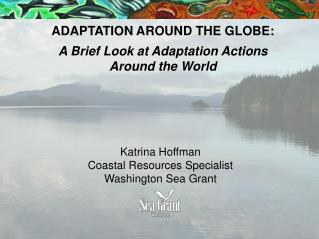 ADAPTATION AROUND THE GLOBE: A Brief Look at Adaptation Actions  Around the World
