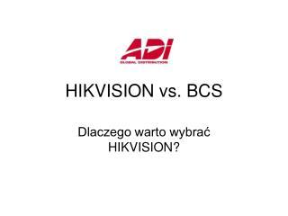 HIKVISION vs. BCS
