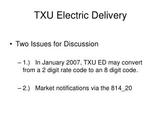 TXU Electric Delivery