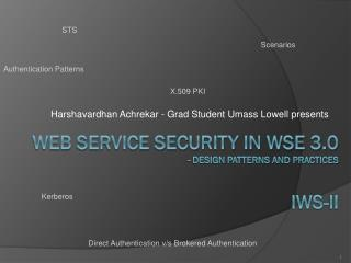 Web Service Security in WSE 3.0 - Design Patterns and Practices iws -ii
