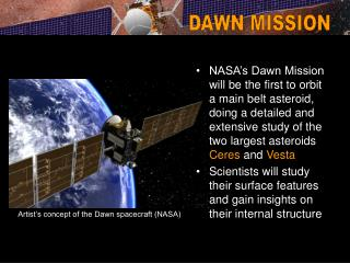 Artist's concept of the Dawn spacecraft (NASA)