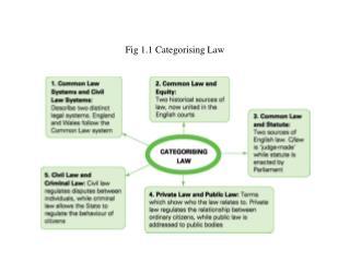 Fig 1.1 Categorising Law