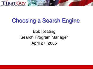 Choosing a Search Engine