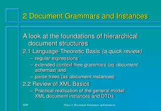 2 Document Grammars and Instances
