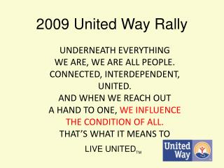 2009 United Way Rally