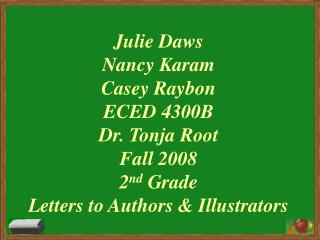 Casey Raybon Letters to Authors & Illustrators Prewriting