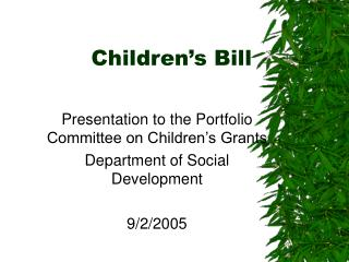 Children's Bill