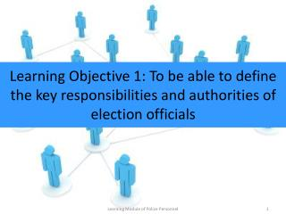 Learning Objective -2 : To be able to list down the Election Preparatory Activities