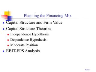 Planning the Financing Mix