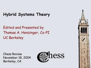 Hybrid Systems Theory