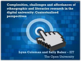 Lynn Coleman and Sally Baker  – IET The Open University