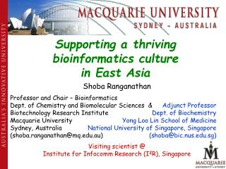 Supporting a thriving bioinformatics culture in East Asia