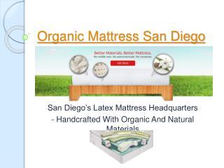 Organic Mattress San Diego