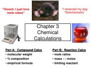 Chapter 3   Chemical Calculations