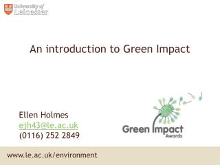 An introduction to Green Impact
