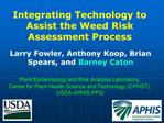 Plant Epidemiology and Risk Analysis Laboratory,  Center for Plant Health Science and Technology CPHST,  USDA-APHIS-PPQ