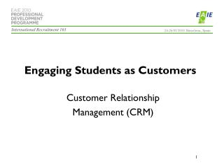 Engaging Students as Customers