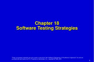Chapter 18 Software Testing Strategies