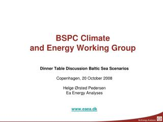 BSPC Climate  and Energy Working Group