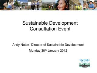 Sustainable Development Consultation Event