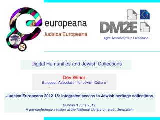 D igital Humanities and Jewish Collections