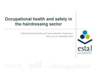 Occupational health and safety in the hairdressing sector