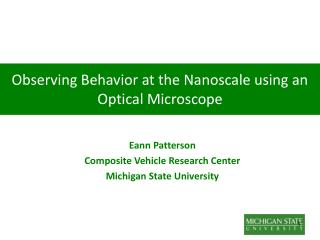 Observing Behavior at the Nanoscale using an Optical Microscope