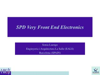 SPD Very Front End Electronics