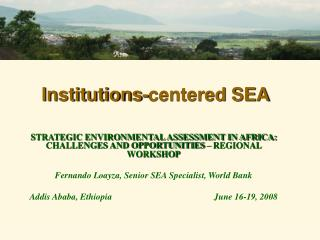Institutions-centered SEA
