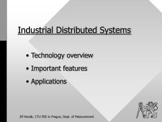 Industrial Distributed Systems