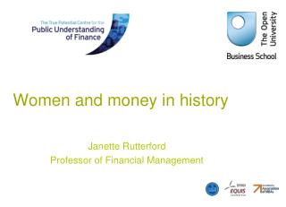 Women and money in history