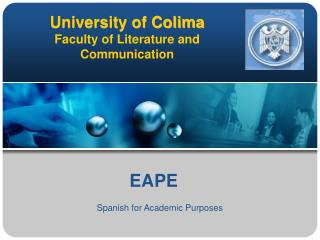 University of Colima Faculty of Literature and Communication