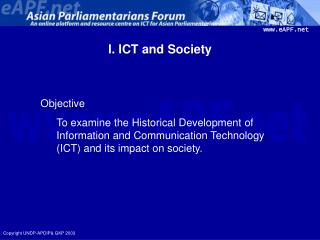 I. ICT and Society