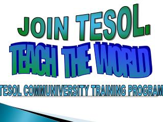 JOIN TESOL.
